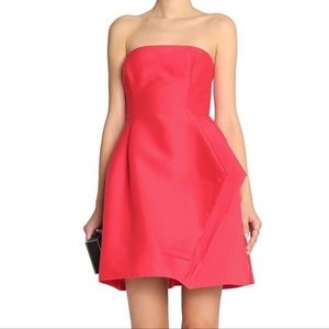 Halston Heritage pleated sleeveless mini dress